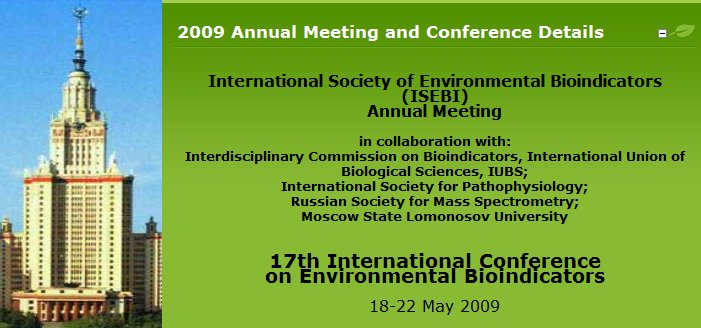 BioIndicators Conference 2009